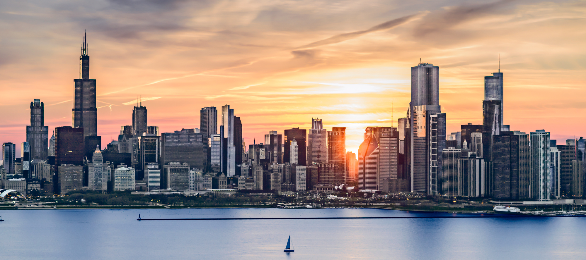 Chicago Sunrise (c) Tigerhill Studio - All Rights Reserved